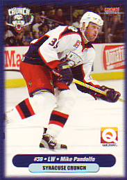 2003 04 Syracuse Crunch Mike Pandolfo 22 We Specialize